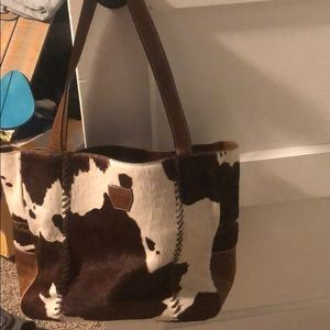 Monique's leather cowhide purse